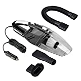 TFLASH Car Vacuum Cleaner, DC 12-Volt 106W Wet & Dry Handheld Car Cleaning Kit with 16FT Power Cord and Flashlight (Black)