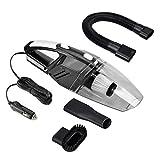 Auto Staubsauger, tragbare Handheld Auto Reiniger DC12-Volt 120W Feucht & Trocken Staubsauger mit 5m (16.4FT) Netzkabel und Taschenlampe (Schwarz)