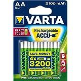 Varta - Lot de 4 Piles rechargeables Accu Ready2Use Mignon AA Ni-Mh (2100 mAh)