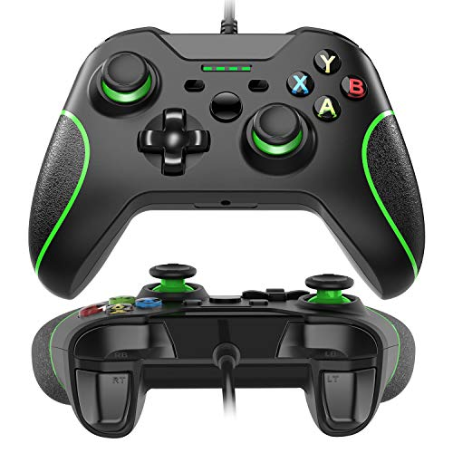 USB Wired Xbox One Controller Joysticks Gamepad Ergonomisches Design Schock Vibration für Xbox One PC Microsoft Windows Schwarz