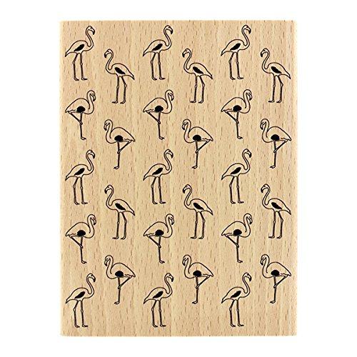 Flucht Holz (florilèges Design Flamingo Stempel, Holz, 13x 10x 2,5cm)