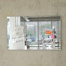 Magnetspiegel MAX 80x50 cm inkl. 5 Magnete, Glas Magnettafel / Magnetwand / Memoboard / Magnetboard