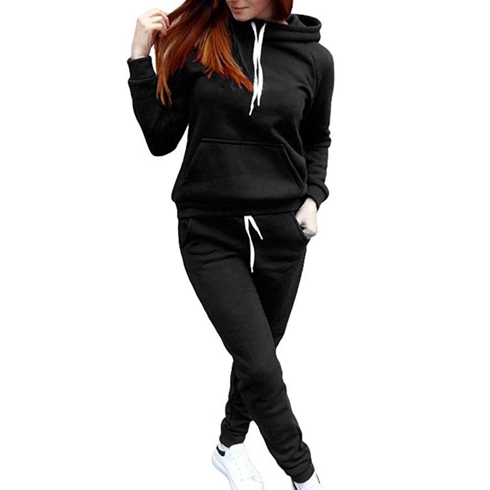 be79a8557 Donna 2 Pezzi Tuta da Ginnastica, Manica Lunga Camicetta e Pantaloni Lungo  Moda Tuta Jogging Training Sportiva Casual Abbigliamento Sportivo