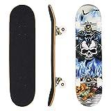 WeSkate Skateboard Komplett Board Funboard Holzboard Komplettboard 79x20cm mit 7-lagigem kanadischem Ahornholz, ABEC-11 Kugellager und Rillen-Profil Rollen für Kinder, Jugendliche und Erwachsene
