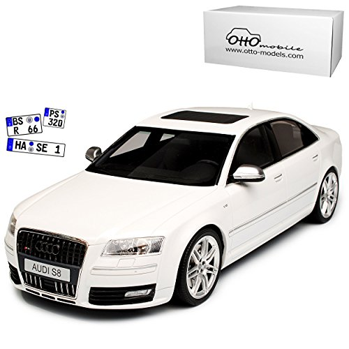 Audi A8 S8 D3 Weiss Limousine 2. Generation 2002-2010 Nr 699 1/18 Otto Modell Auto (Audi Modell S8)