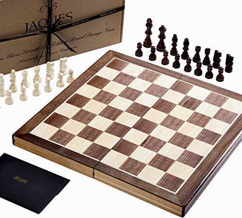 "Jaques-Faltschachset-15-Zoll-Komplett-mit-3-Zoll-Schachfiguren-Qualittsschach-seit-ber-150-Jahren Jaques Von London Schach – 15"" Staunton schachspiel Holz hochwertig -"
