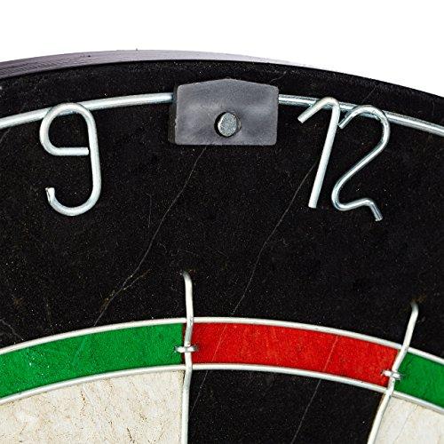 Relaxdays Dartscheibe Bristle Board X4 Zahlenring