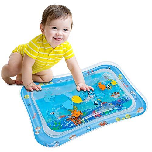Wassermatte Baby, OUTOPE Baby Spielzeuge 3-6-9 Monate, Baby Wassermatte Perfektes Sensorisches Spielzeug, Wasser-Spielmatte Baby, Aufblasbarer Kinderwasserpark