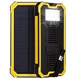 Solar 50000 mAh Power Bank 2 USB 6 LED Akku Ladegerät für alle Geräte
