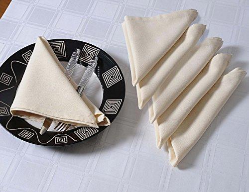 Shalinindia Reinigungstuch Cocktail Servietten Set–15,2x 22,9cm–Baumwolle–Creme –-Perfekt für Hochzeiten und Partys, baumwolle, multi, Set of 40