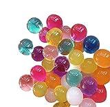 Soccik Mischfarben kristallwassergels Kugeln bördelt Jelly Wasserperlen Bunte Kugeln Wasser Gelee Kugeln Schlamm Boden Perlen Kugeln 5000 Stück