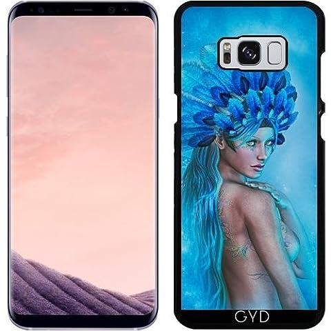 Hülle für Samsung Galaxy S8 Plus - Zeichnung Der Schönen Frau Blu by Illu-Pic.-A.T.Art