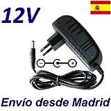 Cargador Corriente 12V Reemplazo Reproductor DVD Saivod DVP-2CI Recambio Replacement