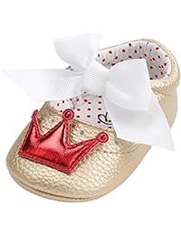 Zapatos para bebé Niñas, Minuya Bebe Patrón de Corona Antideslizante Suela Blanda Primeros Pasos para