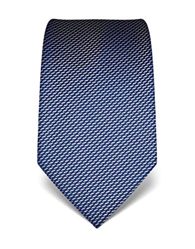 Vincenzo Boretti Herren Krawatte reine Seide gemustert edel Männer-Design zum Hemd mit Anzug für Business Hochzeit 8 cm schmal/breit dunkelblau