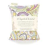 Sac thermique de semences Aroma Lavande, fleur d'oranger ou Romero tissu vintage cachemire 23 cm