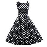 iLover Vintage Rockabilly  Kleid Hepburn Stil Partykleid Cocktailkleid 50er Jahr Abendkleid