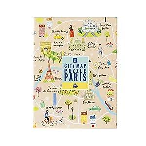 Talking Tables Rompecabezas Junta Adultos Navidad Regalos Fiesta Diversión Juegos Paris PUZZ-Map-PRS-Puzzle, Color