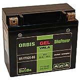 Orbis Gel12-20-BS Motorradbatterie - YTX20-BS 12 Volt 20 Ah 350 A