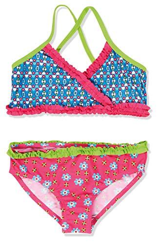 Playshoes Mädchen Zweiteiler Bikini Blumen, UV-Schutz nach Standard 801 und Oeko-Tex Standard 100, Gr. 98 (Herstellergröße: 98/104), Mehrfarbig (original 900)