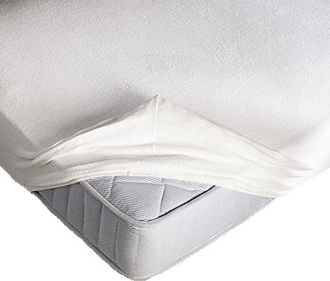 Coprimaterasso elasticizzato in spugna con angoli ed elastici cm 130x200 misura 1 piazza e mezza altezza materasso cm 25