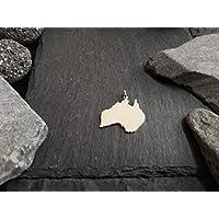 AUSTRALIEN Landkarten Anhänger in 925er Silber