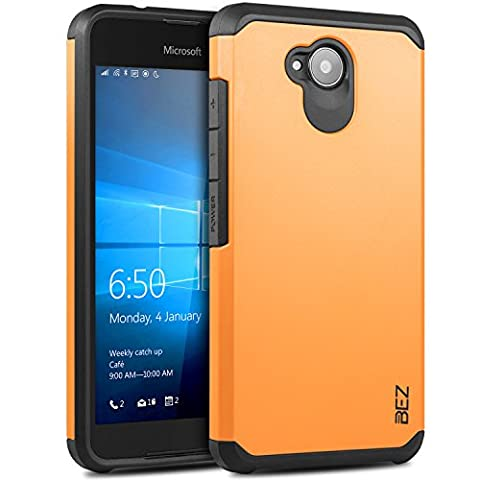 Coque Microsoft Lumia 650, Housse Etui Antichoc Survivor Double Protection pour Microsoft Lumia 650 Resistante - Orange