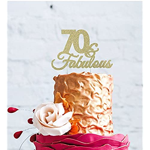 70th Birthday Cake Toppers Amazoncouk