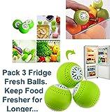 Pack 3nevera ambientador ambientador bolas elimina Olor los alimentos frescos durante más tiempo