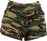 Fasching Damen Hot Pants Camouflage (Small)