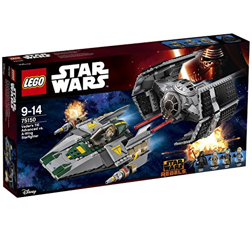 LEGO - 75150 - Star Wars - Le Tie Advanced de Dark Vador contre l'A-Wing Starfighter