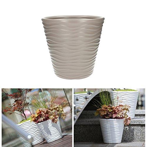 Prosper Plast Dbwa350–7529u 34.2 x 32.3 cm Wave Pot à fleurs Mocca