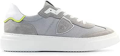 Philippe Model Scarpe da Uomo Sneaker Temple Mixage Grigio SS2020
