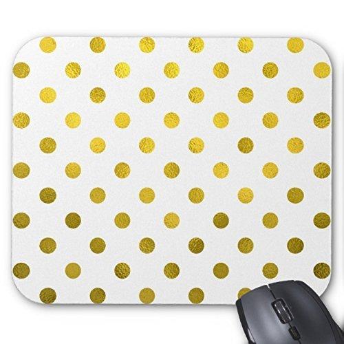 feuille-dor-metallique-motif-a-pois-sur-le-tapis-de-souris-motif-pois-blanc-accessoire-bureau-et-cad