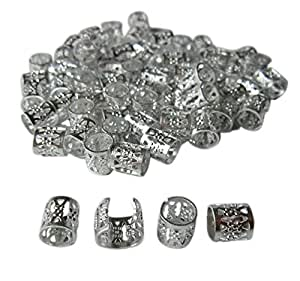 Buy Lock Love Company Dreadlock Beads For Hair Braids And Locs In Silver Metal Filigree Cuff For Men Or Women 50 Pieces Online At Low Prices In India Amazon In
