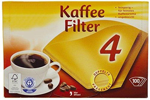 G&G 2129557007 Kaffeefilter, Entkalkter, Geschirrspültabs, Reinig.tabletten 100 Stück naturbraun