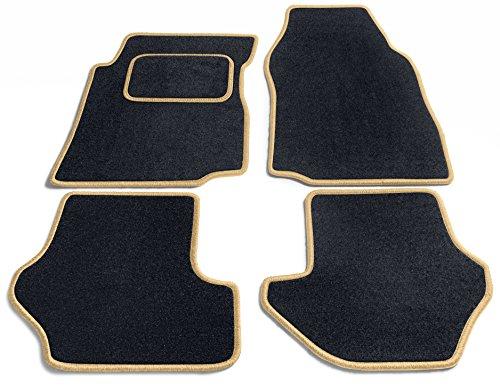 Preisvergleich Produktbild JediMats 60011-Pre-Prestige-Schw Prestige Maßgeschneiderte Fußmatte für Ihr Auto, Schwarz