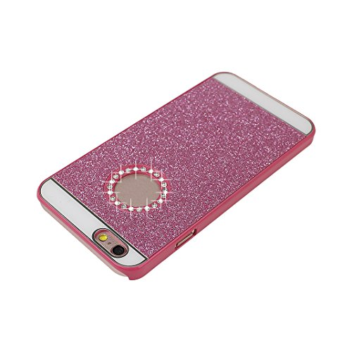 2 PCS iPhone 6 Glitzer Case, iPhone 6S Glitzer Case, Moon mood® Ultra Slim Thin 3D Bling Strass Hülle Hart Bling Gliter Handytasche Kristall Schutzhülle für Apple iPhone 6/6S Hart PC Schutz Etui Cover 2 PCS 5