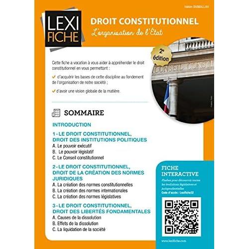 Droit constitutionnel : L'organisation de l'Etat