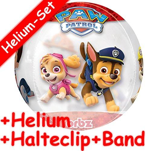 AW PATROL * + HELIUM FÜLLUNG + HALTE CLIP + BAND * // Aufgeblasen mit Ballongas // Deko Geburtstag Folien Ballon Luftballon Orbz Marshall Ryder Chase Rubble ()