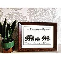 Unframed personalised family print, bear cubs, mama bear, Papa bear, family tree