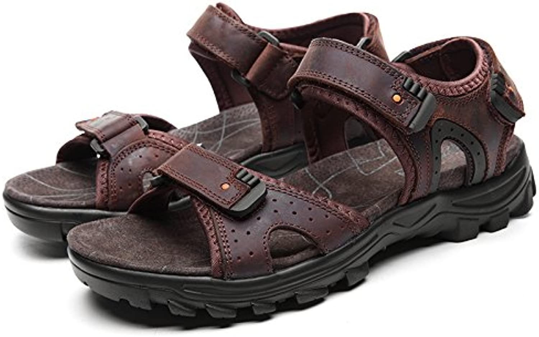 Xing Lin Herren Sandalen Herren Sandalen Sommer Neue Sandalen Die Erste Schicht Leder Casual Wild Praktische Magie