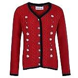 Almsach Damen Trachten-Mode Trachtenstrickjacke Hannerl in Rot Traditionell, Größe:M, Farbe:Rot