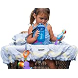 Lumiere Baby Shopping Trolley Cover for Baby - 360 Germ Protection, Entertainment Within Reach, Safety Harness, Machine Washable, Compact Fold-in Pouch