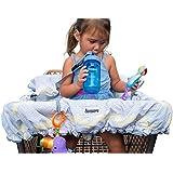 Lumiere bebé carrito de la compra cubierta para Baby–Protección de 360Germen, alcance de entretenimiento, arnés de seguridad, lavable a máquina, compacto plegable de bolsillo