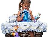 Lumiere Housse pour chariot de courses pour bébé pour bébé–Germe de 360Protection, Divertissement à portée de main, harnais de sécurité, lavable en machine, Pochette Pliable Compact