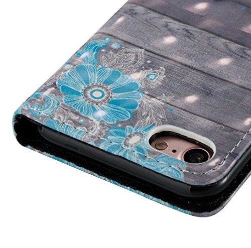 Pheant® Apple iPhone 7 (4.7 pouces) Coque avec Brillant 3D Spécial Effet Étui à Rabat Pochette en Cuir PU Cover Gel Housse de Protection avec Fonction de Support et Fermeture Magnétique Couleur-01