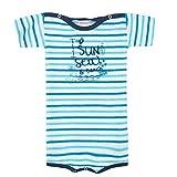 Absorba Bodyshort MC Sun, Body para Bebés, Azul (Caban 046), 12-13 Años (Talla del Fabricante: 12M)