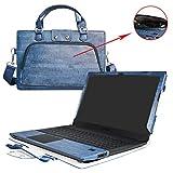 ASUS P2540UA Housse,2 en 1 spécialement conçu Etui de protection en cuir PU + sac portable Sacoche pour 15.6' ASUS P-Series P2540UA Serises ordinateur,Bleu