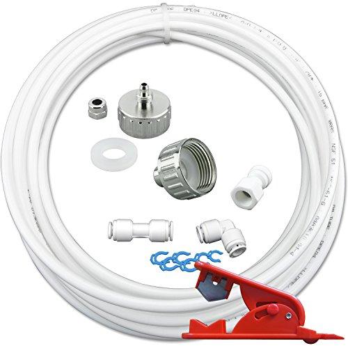 10m Wasserzulaufleitung Universal Anschluss-Set für Kühlschrank Side by Side. Kühlschrankschlauch Wasserschlauch 6,35mm(1/4
